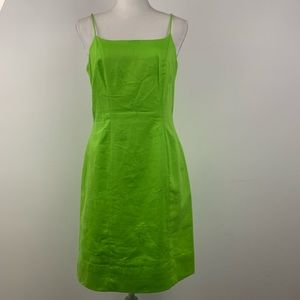 Lilly Pulitzer fitted green palm tree dress